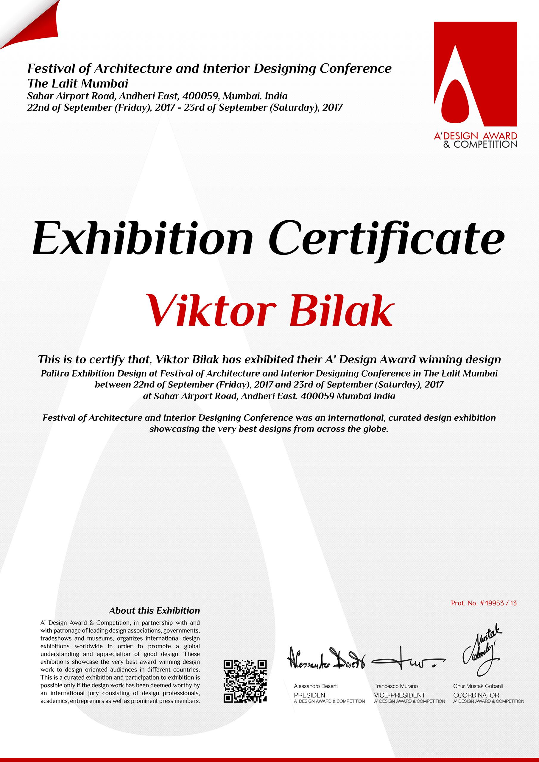 ADA49953-certificate-exhibition_India