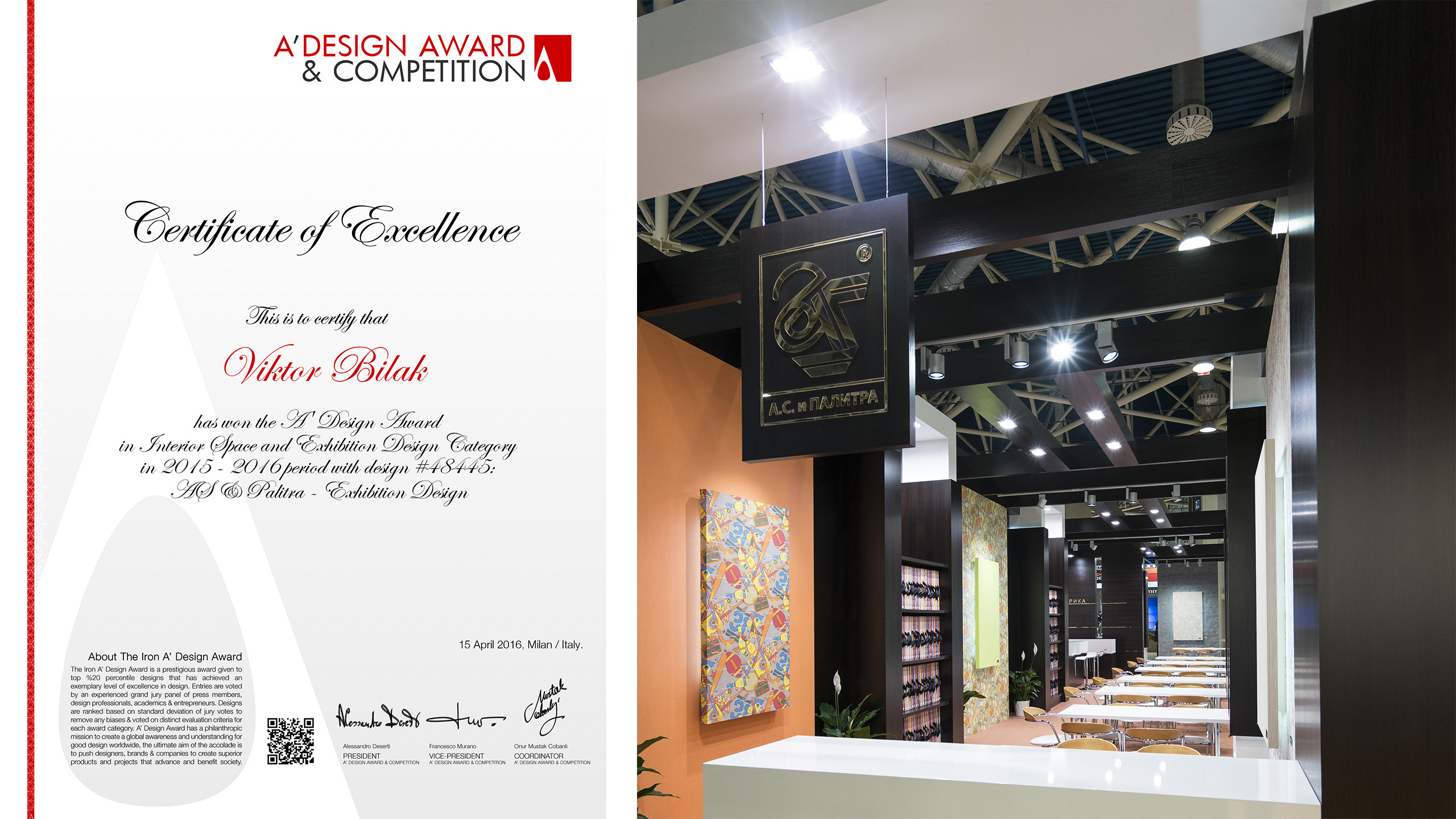 2016 ADA48445 ITALY AS PALITRA MosBuild2016 Russia A DesignAward2016 Winner Russia